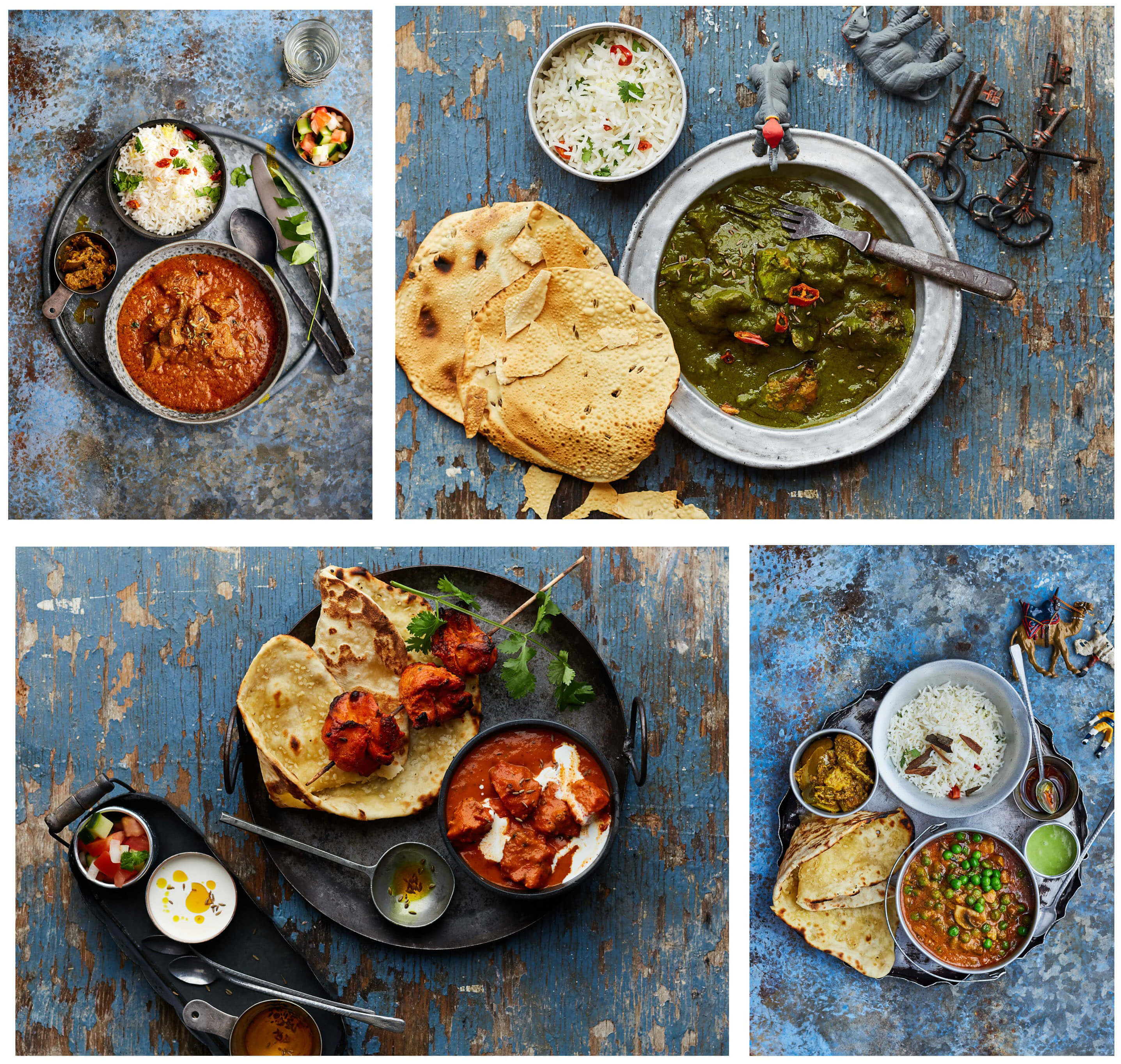 Curry Club blue collage
